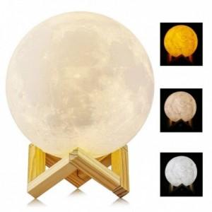 Lámpara tipo Luna 3d Luz...